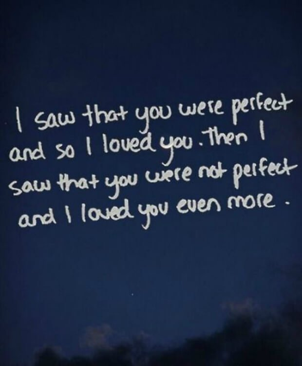 Perfect words to say i love you